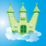 Green fairy castle Stock Images