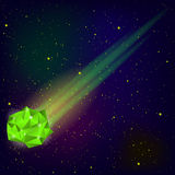 Green Falling Meteor Royalty Free Stock Image