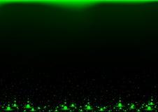 Green Falling Neon Balls Background vector illustration