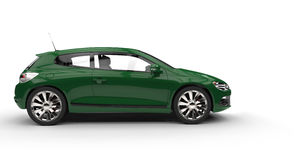 Green Family Car - Side View Royalty Free Stock Photography
