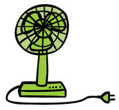 Green Fan. Represent an electric green fan cartoon. Well layered Vector EPS 8 Stock Photography