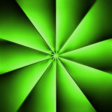 A  green fan on a dark background Stock Photos