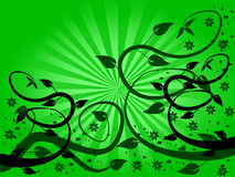 Green Fan Floral Background Stock Photography