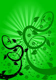 Green Fan Floral Background Stock Image