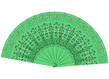 The green fan isolated on a white Royalty Free Stock Photo