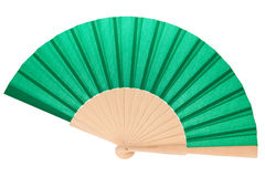 Green fan. Isolated on a white background stock images