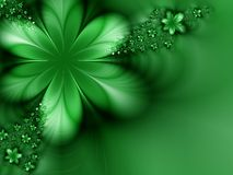 Green fantasy. Unusual green flower on a green background Royalty Free Stock Images