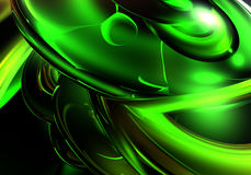 Green fantasy. A Study of Form&Colors, rendered in Bryce Royalty Free Stock Image