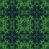 Green Fantasy Seamless Pattern with original foliage elements fo Stock Photography