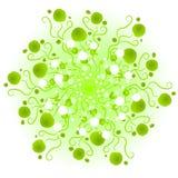 Green Fantasy Swirls Texture stock photography
