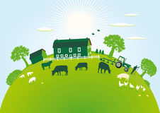 Green farm Stock Photos