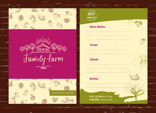 Green farm. Sketch logo for agriculture, horticulture. Branch wi Stock Image