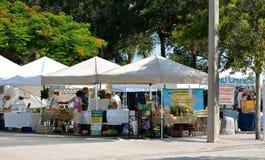 Green Farmers Market Stock Photo