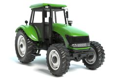 Green Farming Tractor Royalty Free Stock Image