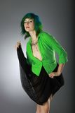Green fashion Royalty Free Stock Image