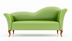 Green fashion couch Stock Photo