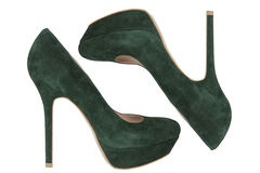 Green fashion shoes Stock Photos