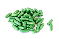 green fat burnner dietary supplement Stock Photo