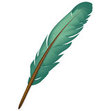 Green feather Royalty Free Stock Photos