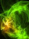 Green feather abstract Stock Photos