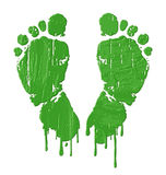 Green feet prints Royalty Free Stock Images