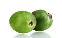 Green feijoa fruit, Royalty Free Stock Images