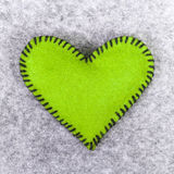 Green felt heart Stock Photos