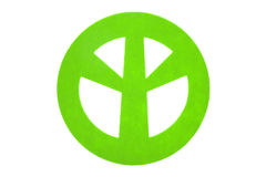 Green felt peace sign Stock Image