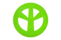 Green felt peace sign Stock Image