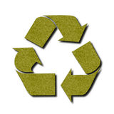 Green felt recycle symbol Royalty Free Stock Image