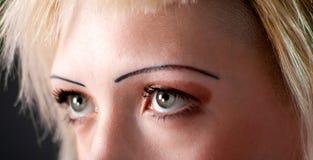 Green female eyes Stock Image