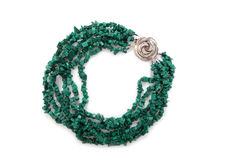 Green female necklace Stock Image