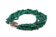 Green female necklace Royalty Free Stock Images