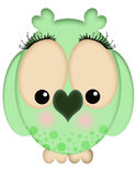 Green Female Owl Royalty Free Stock Photos