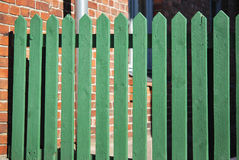 Green Fence Royalty Free Stock Photography