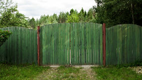Green fence Royalty Free Stock Photo