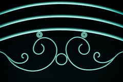 Green fence ornamental elements on black background Royalty Free Stock Photos