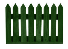 Green fence panel isolated over white Royalty Free Stock Photography