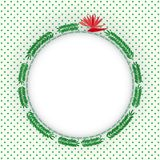 Green fern leaves circle photo frame. Stock vector Royalty Free Stock Photos