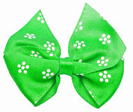 Green festal bow isolated on white Royalty Free Stock Photos