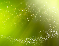 Green festive bokeh background. Green festive fantasy, bokeh background Stock Image
