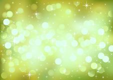 Green festive lights, vector background. Stock Image
