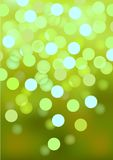 Green festive lights, vector background. Stock Images