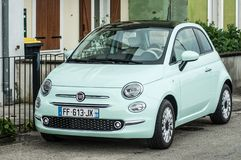 Free Green Fiat 500 Parked In The Street Stock Photography - 148195482
