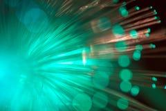 Green fiber optic. Stock Images
