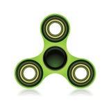 Green Fidget Spinner Focus Toy Illustration Stock Photography