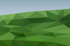 Green field background in polygonal style. Nature landscape. Green  field background in polygonal style. Nature landscape Stock Image