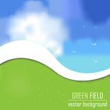 Green field background vector. Green field background. This is file of EPS10 format Royalty Free Stock Photo