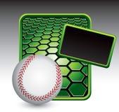 Green field baseball layout Royalty Free Stock Image