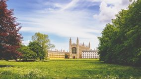 College buildings in Cambridge, England Royalty Free Stock Image